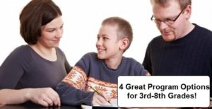 Accredited Homeschool Program four options for 3rd-8th